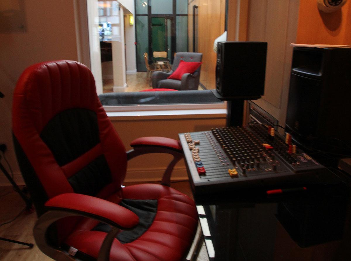 Recording Studio Chair - Avid edit suite at redbox recording studios belfast